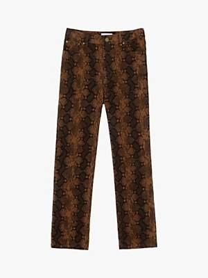 Warehouse Snakeskin Cord Trousers, Snake Effect