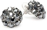 Yochi Hematite Gunmetal Stone Burst Stud Earrings