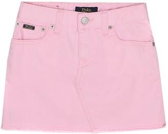 Polo Ralph Lauren Kids Cotton-denim miniskirt