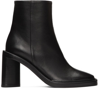 Acne Studios Black Square Toe Boots