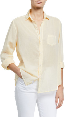 Frank And Eileen Eileen Solid Voile Long-Sleeve Button-Down Shirt