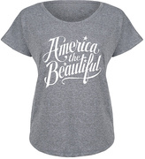 Athletic Heather 'America the Beautiful' Dolman Tee