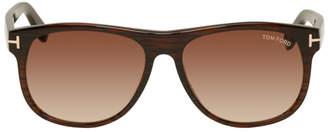 Tom Ford Brown Oliver Soft Square Sunglasses