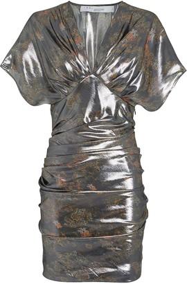 IRO Mimeta Draped Metallic Dress