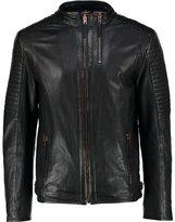 Tom Tailor Leather Jacket Black
