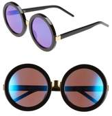 Wildfox Couture Women's 'Malibu Deluxe' 55Mm Retro Sunglasses - Black