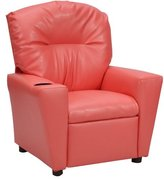 KidzWorld Kids Recliner with Cup Holder