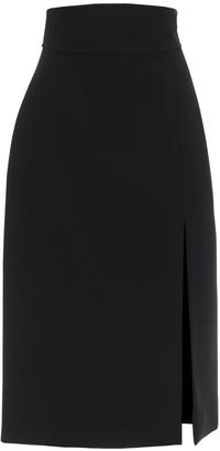 Gucci High Waist Crepe Cady Skirt