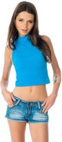 Soho Girls Emma's Mode Junior Mock Neck Sleeveless Crop Top SG-T088