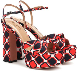 Aquazzura Baba Plateau 125 printed sandals