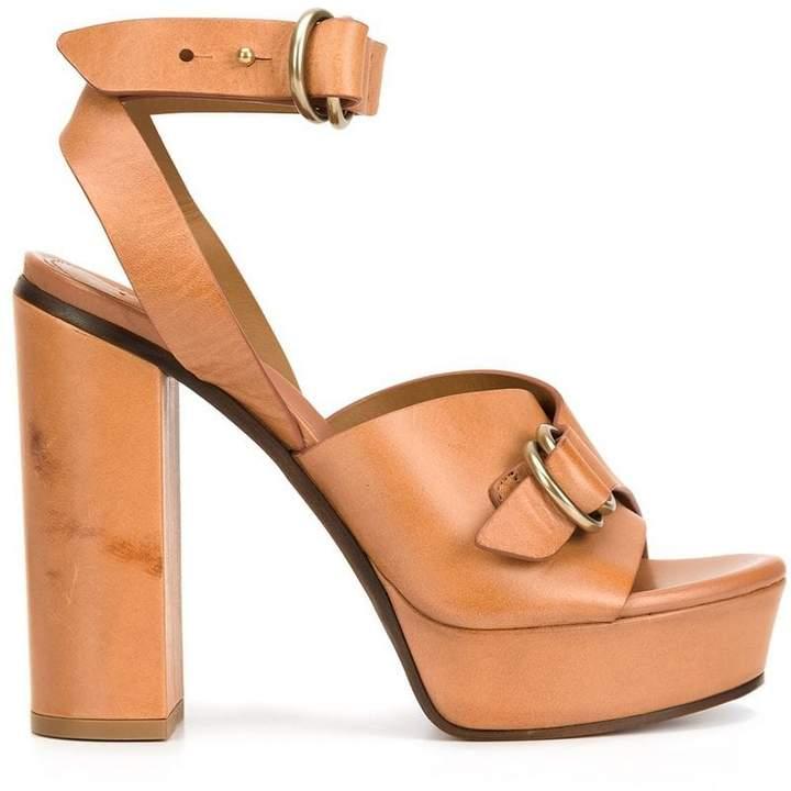 Chloé buckled platform sandals