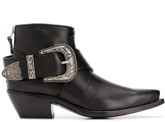 R 13 Low Heel Western-Style Boots