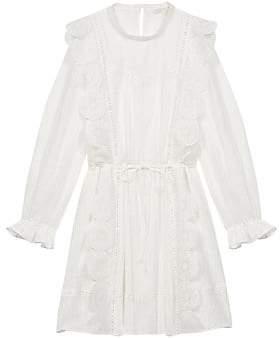 Maje Women's Ravia Lace Scallop Dress