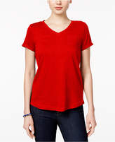 Style&Co. Style & Co Petite V-Neck Pocket T-Shirt, Only at Macy's