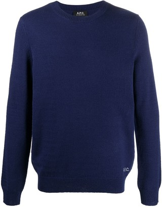 A.P.C. Logo-Embroidered Jumper