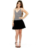 Olivaceous Come Full Circle Skirt In Black