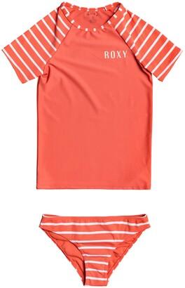 Roxy Kids' Two-Piece Rashguard Swimsuit