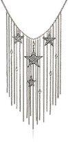 "Ben-Amun Jewelry Crystal Star Fringe Statement Chain Necklace, 16"" + 3"" Extender"