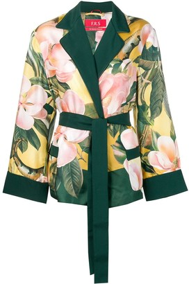 F.R.S For Restless Sleepers floral belted jacket