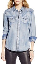 Jessica Simpson Chambray Button-Front Shirt