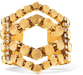Erickson Beamon Awaken Gold-plated Crystal Cuff - one size