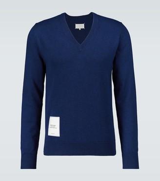 Maison Margiela Recycled knit V-neck sweater