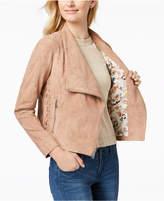 BCBGeneration BGBGeneration Faux-Suede Lace-Up Moto Jacket