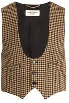 Saint Laurent Tweed wool waistcoat