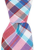 Original Penguin Derita Check Plaid Skinny Cotton Tie