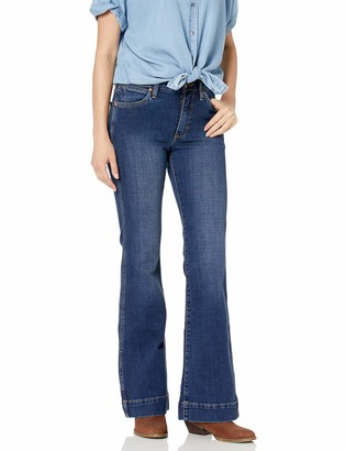Wrangler Women's Retro Premium Five Pocket High Rise Trouser Jean
