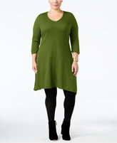 NY Collection Plus Size Fit & Flare Sweater Dress