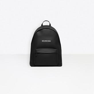 Balenciaga Calfskin large backpack with embossed logo