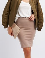 Charlotte Russe Ponte Knit Pencil Skirt