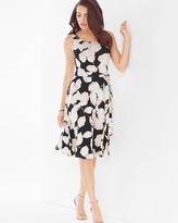 Soma Intimates Fit and Flare Short Sleeveless Dress Rose Shadow Soft Tan
