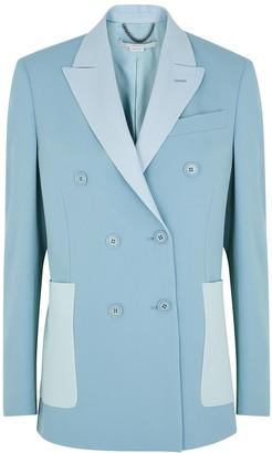 Stella McCartney Alena blue double-breasted stretch-wool jacket