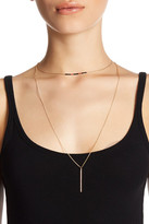 Stephan & Co Layered Beaded Gold Bar Pendant Choker