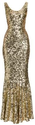 Dolce & Gabbana Sleeveless Sequin Gown