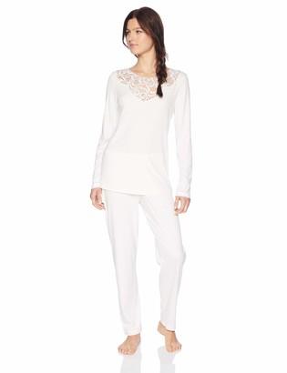 Hanro Women's Ella Long Sleeve Pajama Set