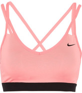 Nike Pro Indy Stretch-jersey Sports Bra - Blush