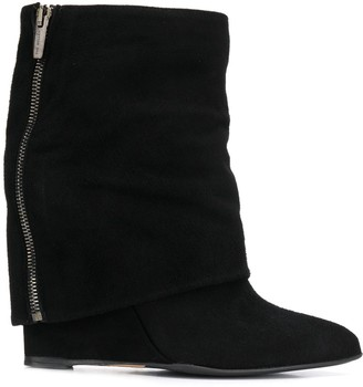 The Seller Foldover Wedge Boots