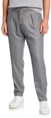 Marco Pescarolo Men's Pleated Cashmere-Wool Trousers