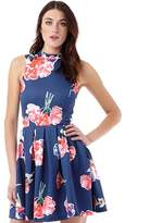 Superdry Womens Premium Suba Dress Watercolour Collage Navy