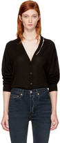 Alexander Wang Black Pierced V-neck Cardigan