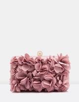 Forever New Violet 3D Floral Clutch
