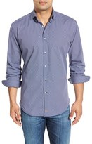 Thomas Dean Men's Regular Fit Poplin Sport Shirt