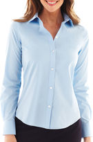 Liz Claiborne Long-Sleeve Wrinkle-Free Oxford Shirt
