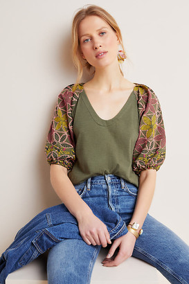 Maeve Bridey Embroidered Top By in White Size XS