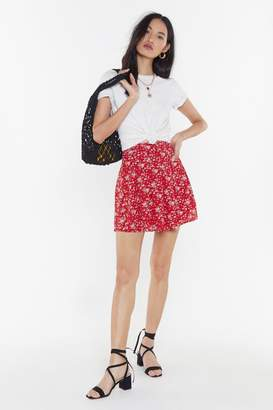 Nasty Gal Womens Enough the Flowers in the Day Mini Skirt - red - 12