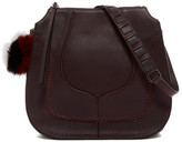 Botkier Grove Genuine Fur Trimmed Leather Hobo