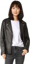 Alexander Wang Leather Oversized Motorcycle Jacket